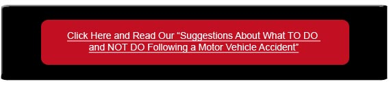 Suggestions about what to do and not do following a motor vehicle accident